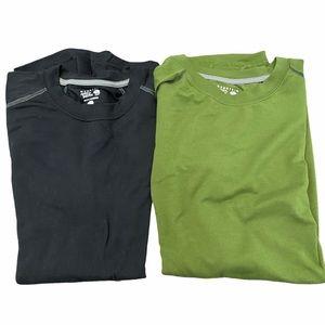 Mountain Hardwear T shirts Black and Green Medium